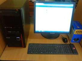 COMPUTADOR  INTEL MONITOR LCD HP TECLADO MOUSE   CARACTERÍSTICAS >> CORE 2 DUO 2.6 GHZ-MEMORIA 2 GB-DISCO DURO NUEVO 300