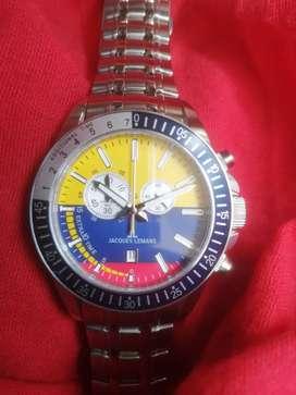 Reloj jacques Lemans soccer edición limitada con la bandera de Colombia  de 44mm cronografo  mide  tiempos del fútbol