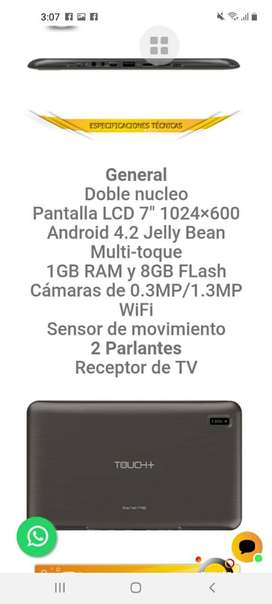 Venta tablet touch +