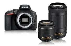 Vendo Nikon D5600 + Lente 18-55 + Lente 70-300