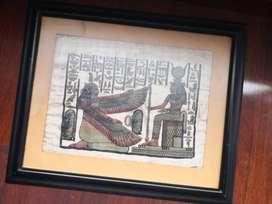 4 papiros originales enmarcados