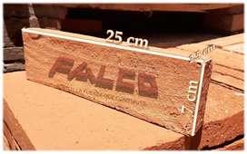 Ladrillo Tipo Obra de 7x25x2.5cm