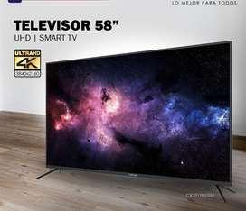 Televisor Caixun 58 pulgadas LED 4K Ultra HD Smart TV control magico