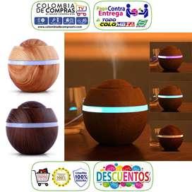 Difusor De Aroma 400ml Humidificador Atomizador Colores LED, Nuevos, Originales, Garantizados.