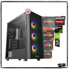 Pc Torre Gamer Intel Amd Ryzen 9 7 5 Ssd 16gb Ram T.video + Extra