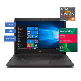 Portátil HP 245 G7 AMD Ryzen 5-3500U 4GB 1TB HDD 14  W10 Pro64 Garantia 1 Año + KASPERSKY INTERNET SECURITY