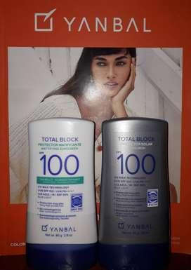 TOTAL BLOCK SPF100 Y SPF100 MATIFICANTE !!EN OFERTA 2X1!!