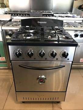 Cocina Industrial 57 Cm 4 Hornallas Depaolo Acero Inox Nuevas ultimas! GAS ENVASADO Y NATURAL