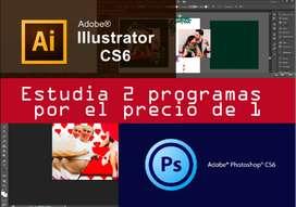 Curso personalizado de diseño gráfico y Computación.