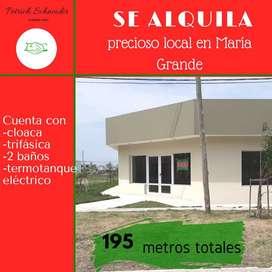 SE ALQUILA LOCAL COMERCIAL AMPLIO EN MARÍA GRANDE(PARANÁ-ENTRE RÍOS)A