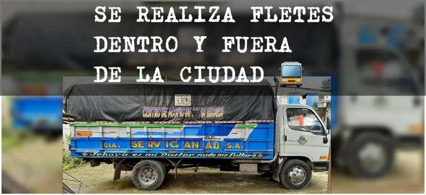 SE REALIZA FLETES Y MUDANZAS DENTRO Y FUERA DE LA CIUDAD