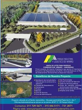 Venta de lotes para bodegas  - Parque industriall y Logistico de Nariño