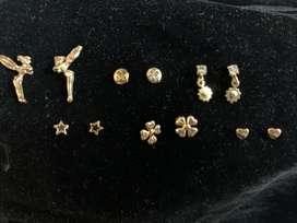 Aretes de oro brasileño