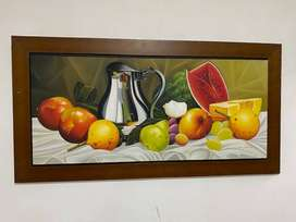Cuadro de frutera colores vivos en excelente estado