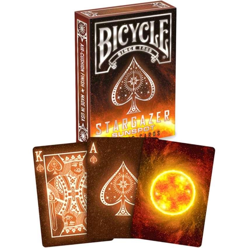 Cartas Bicycle Stargazer SunSpot Sol Dorso Negro Fuego. 0