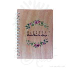 Cuaderno tapas rígidas en madera para personalizar – Precio COP