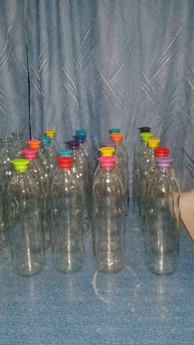 Botella de vidrio transparente 1lt.