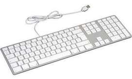 Teclado en ALUMINIO Apple USB en español ORIGINAL, con teclado numerico en aluminio