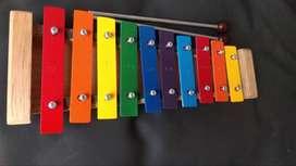 Xilofono infantil 10 notas afinado fabricacion Colombiana