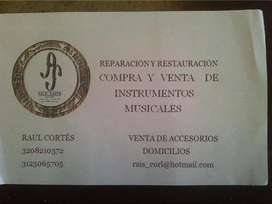 SE REPARAN INSTRUMENTOS MUSICALES DE CUERDA Y PERCUSIÓN TÉCNICAMENTE .