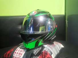Casco agv k5 hurracaine 2.0 con intercomunicador cardo freecom1