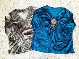 Blusas de Chifon con Apliques (usada)