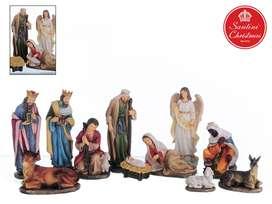 Pesebre Navidad x11 Medida: 20 cm Marca: Santini: