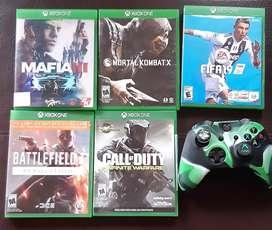 Vendo control y juegos exbox one