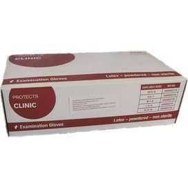 Guantes de látex marca protects clinic caja x100