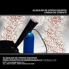 ALQUILER DE CAÑÓN DE CONFETI.