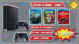 Ps4 + god of war +crash bandicoot + Marvel's spiderman + mando