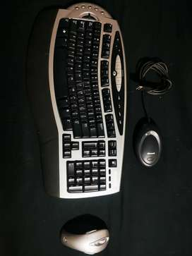 Combo Mouse y Teclado ergonómico Inalámbrico Microsoft Original