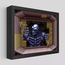 Cuadros en 3D de juegos clásicos