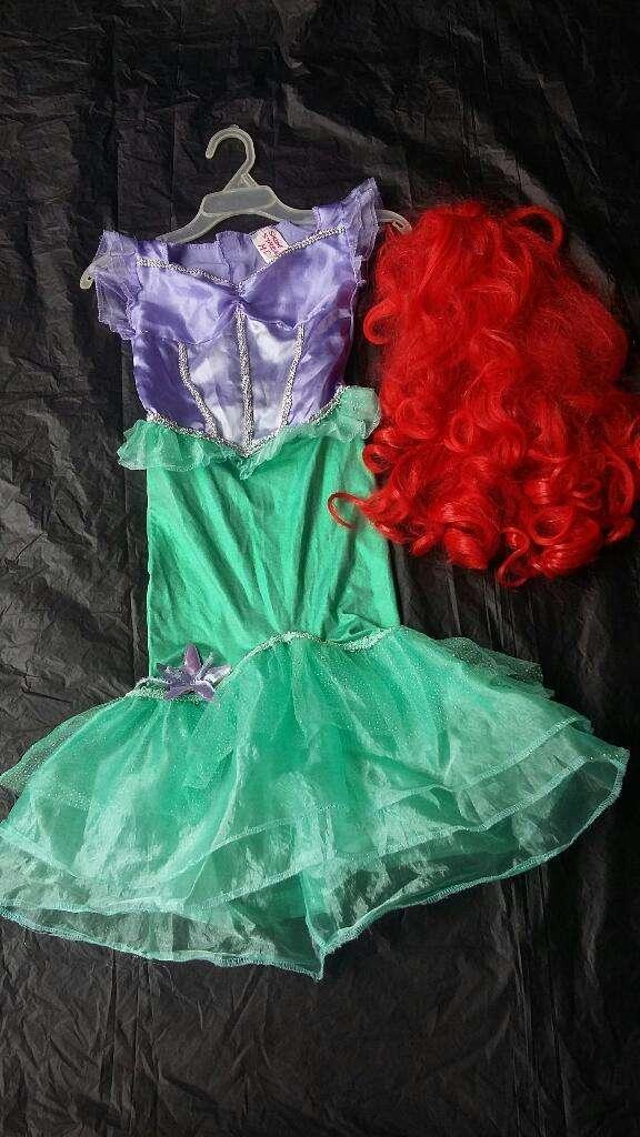Vendo Disfraz de Sirenita Ariel # 4-5 0