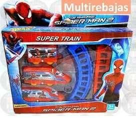 Clasico Juego De Tren Armable de Super Heroes Para Niños