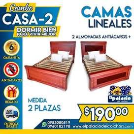 CAMAS DE MADERA // BASES BOX SOMIER // COLCHONES 2 PLAZAS // CAMAS METALICAS // CAMAS LITERAS **ENVIO GRATIS** COLCHONES