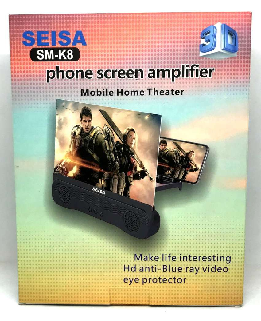 Amplificador de imagen y sonido  para celular con parlantes bluetooth