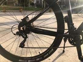 Bicicleta rali golden, marco en aluminio, rin el aluminio, llantas de alto rendimiento, freno hifraulico, cambios 2x8