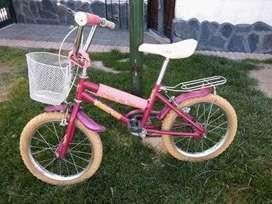 bicicleta de niña rodado 16