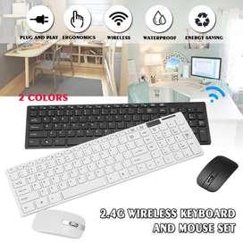 Combo Mouse Óptico + Teclado Numérico + Protector De Teclado
