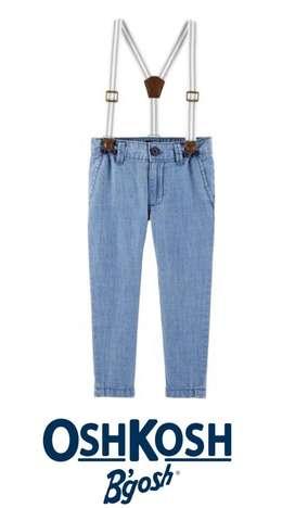 Pantalon y tirantes Oshkosh Talla 3T