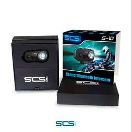 Intercomunicador Bluetooth con cámara SCS S10 Motociclista Cascoloco Distriramirez