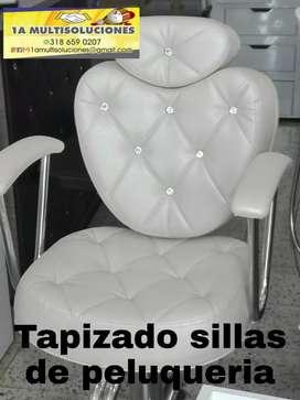 Tapizado de sillas de peluquería