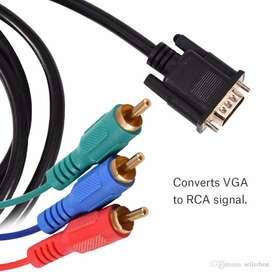 Cable convertidor VGA a RCA