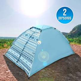 Carpa Camping Semi Impermeable 2 Personas DC1397