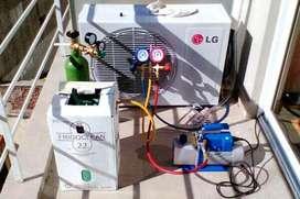técnico matriculado en refrigeración aire Acond.  Heladeras Familiares y Comerciales