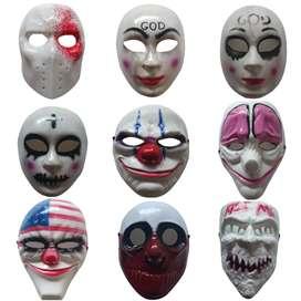 Mascara Disfraz Purga Juego Calamar Casa Papel Halloween Hombre Mujer Niños Adultos Payaso It Pennywise Asesino Mascaras