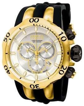 Reloj Hombre Invicta Venom Reserve Suizo Dorado Negro 10834