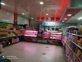 Se vende linda carnicería con fruver y grano