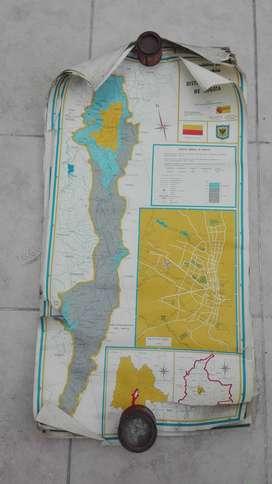 Antique Colombia vende o cambia lote de 7 mapas antiguos